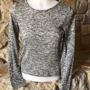 Black marled sweater